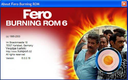 Fero burning rom - klikni  > další Fotka